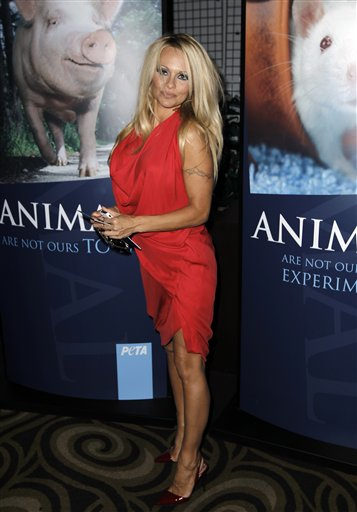 """I called them from 'Baywatch' amd said 'Please give me something to do. I'm so sick of talking about my boyfriends and my boobs.'""- Pamela Anderson, explaining the noble reason why she chose to do a nude photo shoot for PETA. The animal rights group celebrated its 30th anniversary with a gala in Los Angeles on Saturday."