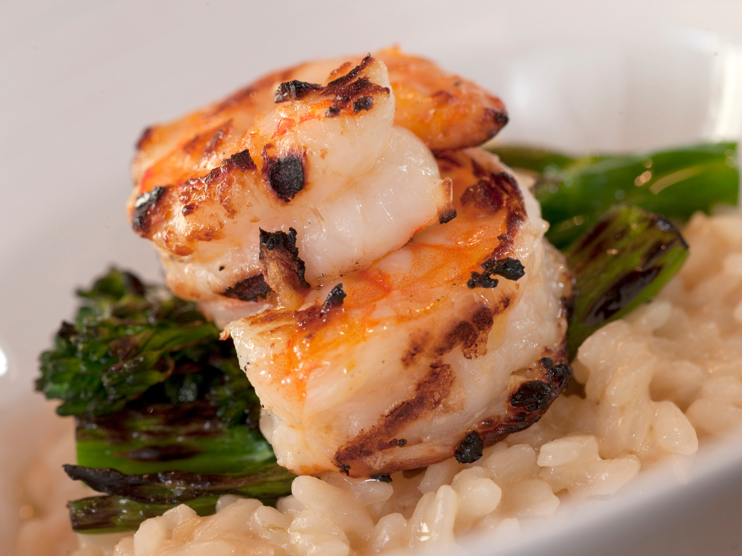 Verace_GrilledShrimpRisottowith Broccolini