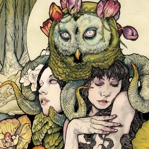 The cover art for Kvelertak's debut album, by John Dyer Baizley of Baroness!