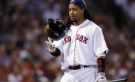 during a baseball game at Fenway Park in Boston Tuesday, July 29, 2008. (AP Photo/Elise Amendola)