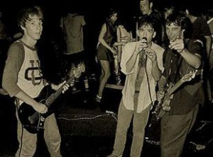 """Band on the floor, crowd on the stage. At the Pier, Raleigh NC, 1980"" (Photo by Chris Seward, Courtesy of REMHQ.com)"