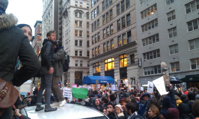"Occupy Wall Street protesters during ""Day of Action"""