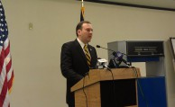 State Sen. Lee Zeldin during press conference on Tuesday.
