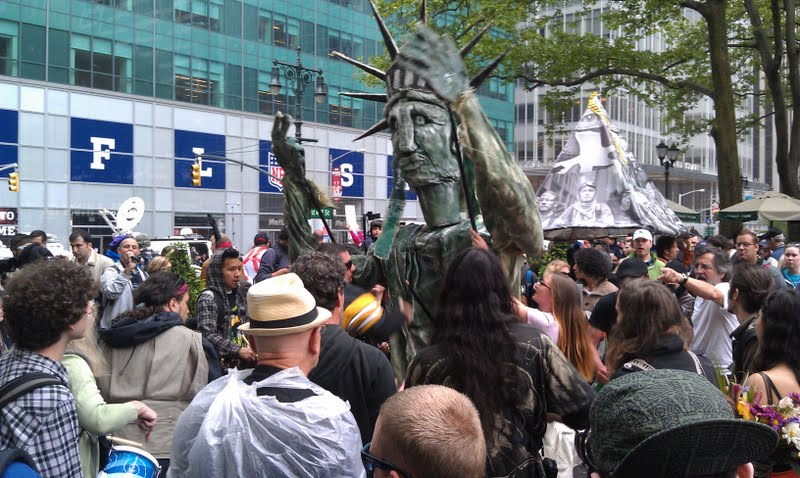 Occupy protesters celebrate May Day at Bryant Park (Photo credit: Rashed Mian/Long Island Press)