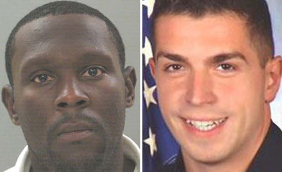 Darrell Fuller, left, has been arrested for allegedly gunning down a carjacking victim and Nassau County Police Officer Arthur Lopez on Tuesday, Oct. 23, 2012.