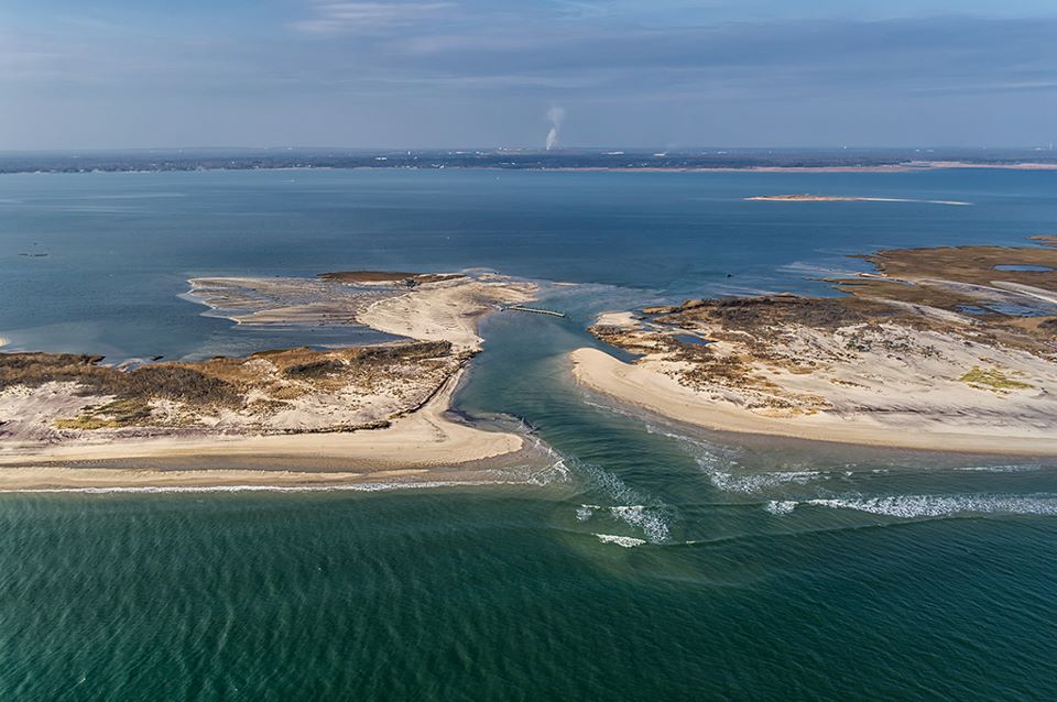 Officials announced plans to close Long Island barrier beach breaches at Cupsogue park in Westhampton and Smith Point park in Shirley, but the National Park Service has yet to announce plans for this third breach in a Fire Island preserve (FINS).